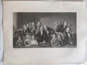 十九世纪 欧洲钢版画 手工雕刻  凹印版画 57-20200618