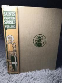 1913年   SAINTS AND THEIR STORIES   含彩色插图