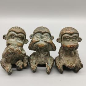 《三不猴》茶宠摆件