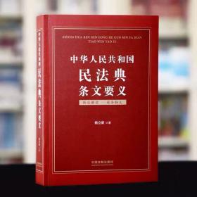 中华人民共和国民法典条文要义