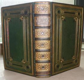 【补图】1853年 Poetical Works of Lord Byron《拜伦诗全集》全牛皮满堂烫金精装插图本 名工坊Budden装帧 增补插图 大开本 金碧辉煌品佳