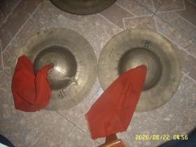 老铜钹(铜镲一对)直径31CM 3斤多重
