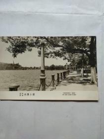 老照片:杭州西湖湖滨公园