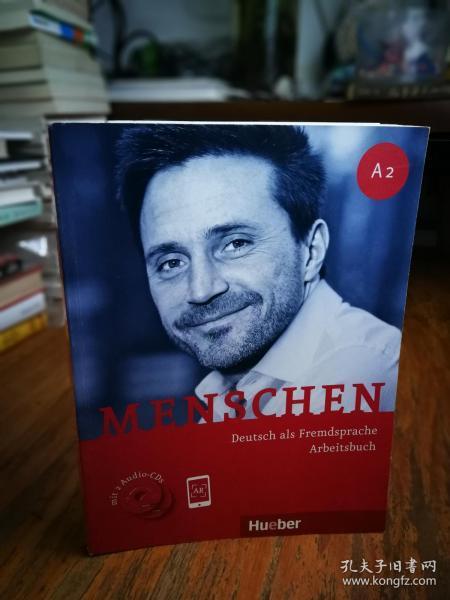德国原版 德语教材 Menschen A2 Arbeitsbuch mit 2 Audio-CDs 练习册 附带CD