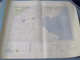 《北京》地图  1933年出版   大日本帝国陆地测量部 46×58cm