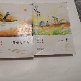 曹文轩小说浏览与鉴赏 二本合售 一条更大年夜的鱼  十一月