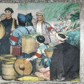 古玩铜器收藏,毛主席丝织画像,东方红丝织厂敬制,保存完好,红色收藏
