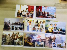 少见韩文版,毛主席首日原地极限片,邮票明信片一套8枚,详情看图