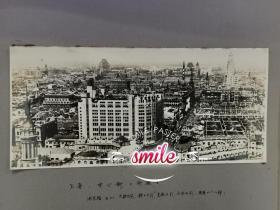 大幅民国上海风景老照片上海中心街(南京路上的大新公司,先施公司,永安公司等)