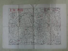 1958年上海详细交通地图(嘉定县上海县宝山县合并)【套色油印版】