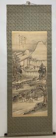 日本回流字画 原装旧裱  560号   山水(王翚款)