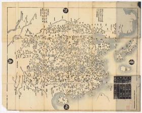0088古地图1729 大明都城图。  纸本大小105.49*132.44厘米,宣纸原色仿真。微喷复制
