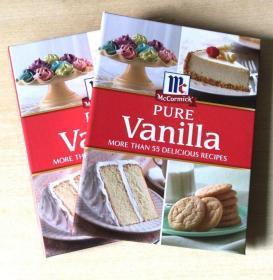 McCormick Pure Vanilla冰沙蛋糕饼干果汁美食食谱做法 英文菜谱 【精装 128页】