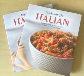 made simple ITALIAN 意大利食谱 西餐烹饪技巧方法 英文美食菜谱【精装本 192页】