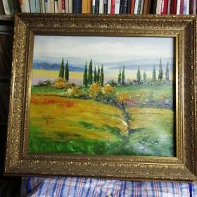 老油画。65x75