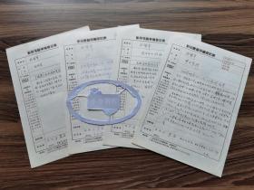 老作家、曾任中国文化报社社长 马畏安(1933-,湖北浠水人)八十年代填写《影印书籍审编登记表》四份 审阅於梨华《梦回青河》《白驹集》等四部作品 279