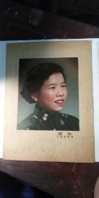旧照片,女士古式开襟服装肖像照片