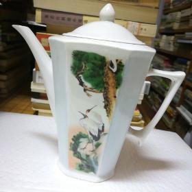 双鹤延年老式茶壶(八棱)
