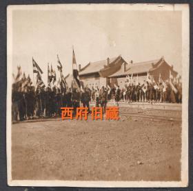 民国老照片,侵华日军占领山西忻县火车站老照片