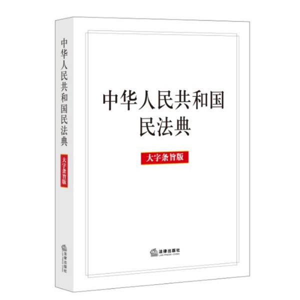 中国人民共和国民法典大字条旨版