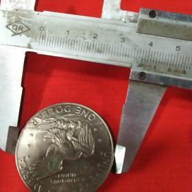 1977年美国登月纪念币艾森豪威尔头像