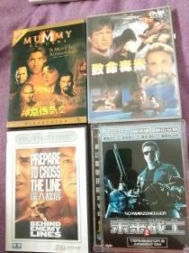 激情枪战影片4盒《致命毒枭》《未来战士2》《深入敌后》《神鬼传奇2》DVD电影光碟