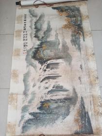 中国美协会员张大千的弟子四川著名画家张轶凡作品8平尺保真