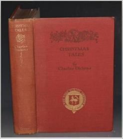 1932年Dickens: Christmas Books - A Christmas Carol 狄更斯《圣诞之书/圣诞颂歌》H. M. Brock珍贵彩色插图本初版 大开本布面烫金品佳