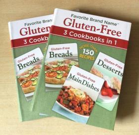 gluten free 无麸质食物 无谷蛋白 3合1 150个食谱烹饪技巧制作方法英文美食菜谱 【平装288页】