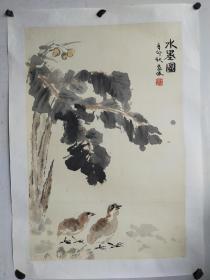 周逢俊  花鸟托片 68x46
