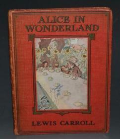 1910年Alice's Adventures in Wonderland《爱丽丝漫游奇境记》C. Pears 彩色插图版 配补Rackham彩图多枚 精装大开本