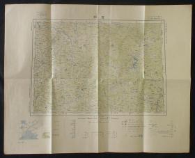 1926年侵华老地图!《吉林》(东亚舆地图 百万分之一精密地图!吉林省:吉长道-长春、德惠、吉林、海龙-梅河口、延吉道-延吉、和龙、龙井、图们、豆满江、汪清、安图、敦化、镜泊湖、宁古塔-宁安等地!吉敦铁道、天图铁道、图们铁道、东支铁道!加盖:大日本帝国陆地测量部钢印!)好品相!珍稀 民国老地图!