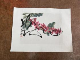 齐白石  国画作品  【   荣宝斋木板水印  】六七十年代。尺寸23————30厘米