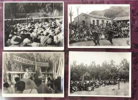 文革时期 冶金部第三批野营拉练同志拉练及归来 特色老照片一组10枚