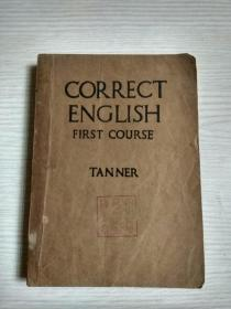 CORRECT ENGLISH(民国旧书 非常薄的宣纸印刷)有插图