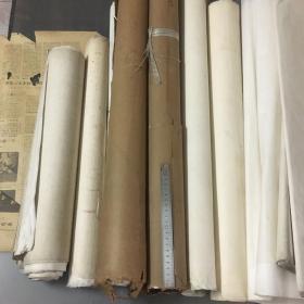 已故著名画家家里流出。乱七八糟早期宣纸(一堆)品自定。没有时间整理一起走