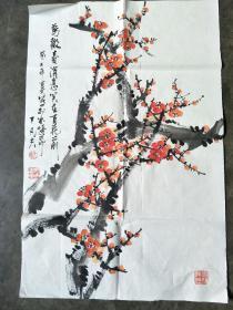 丁凡夫*梅花图,纯手绘