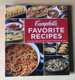 英文 FAVORITE RECIPES 最受喜欢的食谱 西餐烹饪技巧 美食菜谱 【精装本 224页】
