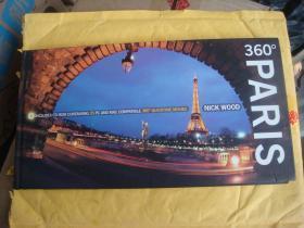 360° PARIS (全景巴黎)  英文原版 精装 带光盘MOVIE  开本横宽超长(罕见开本),图片类似宽影幕视觉极宽。