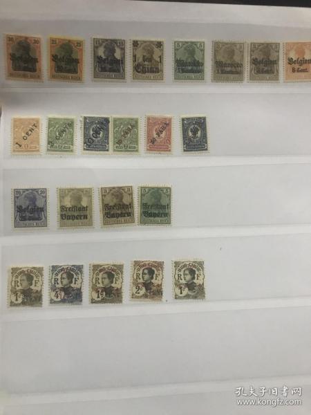 古典客邮邮票 新票一页不同 古典客邮邮票 含大清客邮邮票 都是新票 打包一起 部分少见
