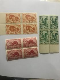 民国图瓦老邮票新 三件四方票 民国时期 争议地方 图文邮票 新票 少见 有背胶 品好 打包一起。单方30 打包80