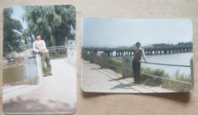 90年代彩色照片-延吉市河边、儿童公园(2张)