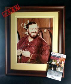 """""""高音C之王"""" 帕瓦罗蒂 签名照片(已装裱带框,照片约8×10英寸) 由三大签名鉴定公司之一JSA提供鉴定"""
