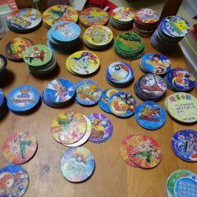 圆卡400多张:神奇宝贝卡,宠物精灵币卡,虹猫蓝兔奇侠传卡,宠物小精灵卡,游戏王国卡,拳皇卡,英雄奥特曼卡,火焰七龙珠卡,圣斗士卡,喜洋洋灰太狼卡等等(共400多张,大小不同合售)