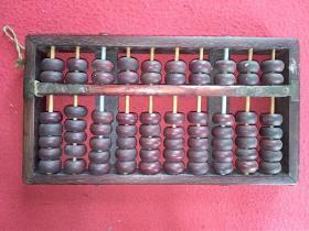 60年代 顺风牌 红木10档算盘(少见)上海算盘厂