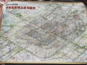 手绘北京城立体鸟瞰图