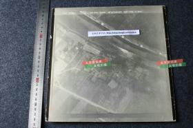 民国时期美国第二十航空中队对江苏扬州古城城墙侦查航拍老照片,尺寸为25X25.3厘米,有拍摄地点GPS坐标。B