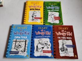 Diary of a Wimpy Kid 小屁孩日记 英文原版(5册合售)