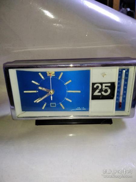 闹钟 钻石牌长三针闹钟 带选盒品相如图 好使走