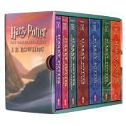 全新正版哈利波特全集 英文原版全套 Harry Potter 1-7 美国版套装 学乐 JK罗琳 7册平装 魔法石 密室 青少年儿童文学读物 魔法奇幻小说